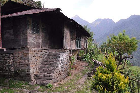 Mangan, India: Typical Lepcha House- Dzongu