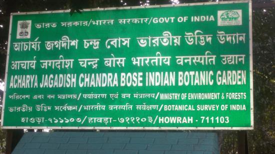 Attrayant Acharya Jagadish Chandra Bose Indian Botanic Garden: Address Of The Botanical  Garden