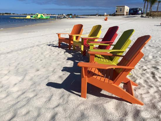 beach chairs with inflatables in the background picture of sunwest rh tripadvisor com au