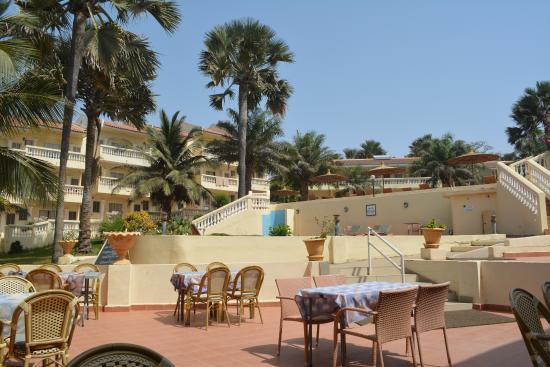 Bijilo Beach Hotel: Vue du restaurant