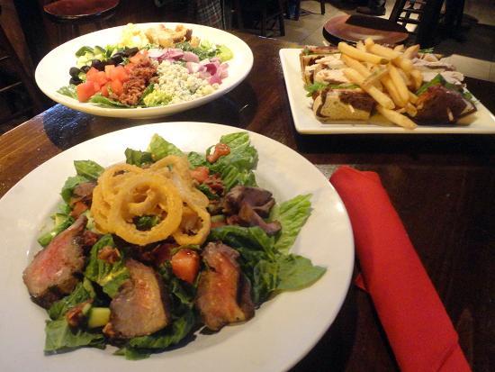 Baker's American Bar & Grille: Steak Salad, Cobb Salad and Battleground Club