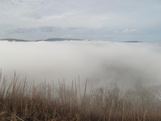 Wyalusing Rocks in the fog, like floating on a cloud