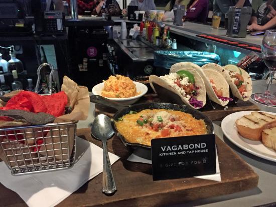 the shrimp tacos and crab dip picture of vagabond kitchen tap rh tripadvisor co za