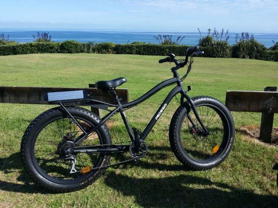 New Plymouth, New Zealand: e-bike I hired from Cycle Inn for the day