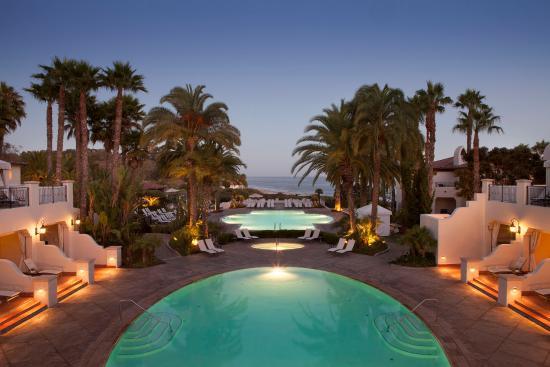 Goleta, كاليفورنيا: Bacara Resort Pool Sunset