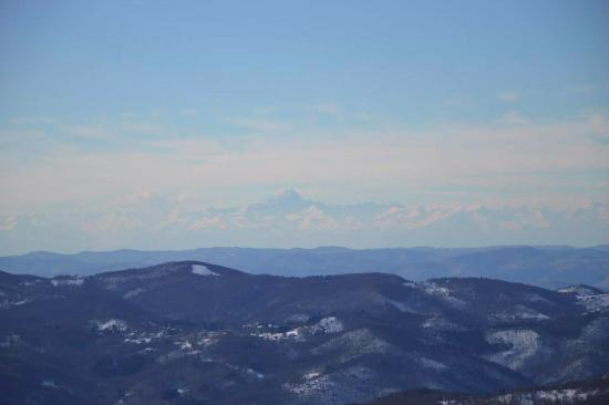 Monte Reixa: Vista sul Monviso