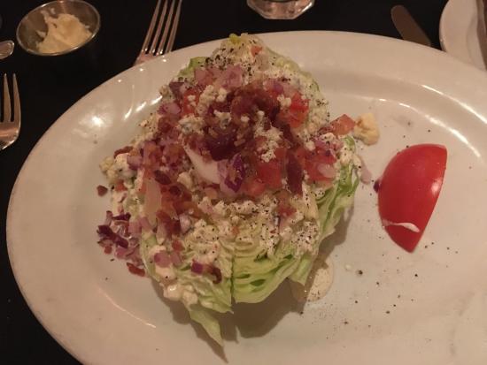 New York Grill: wedge salad - split in half!