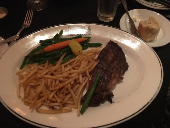 New York Grill: Sirloin Steak entree - split in half - amazing portions