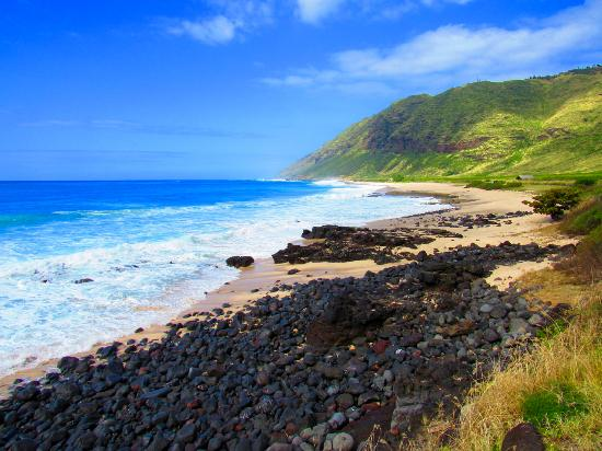 Makaha, Havaiji: Looking towards Kaena Point