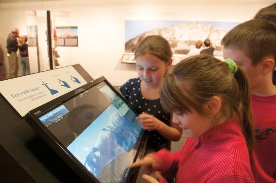 Plymouth, NH: Children enjoying an interactive display.