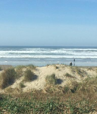 The Surfside Restaurant and Lounge : The VIEW from my table at Surfside Restaurant, Florence Oregon