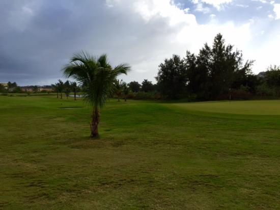 South Coast, St. Kitts: From the right of the green on the second hole