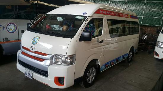 toyota hiace latest model larger seats and larger laggage room with rh tripadvisor com