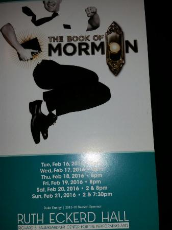 Ruth Eckerd Hall: On our way to Book of Mormon Ruth Eckert Hall