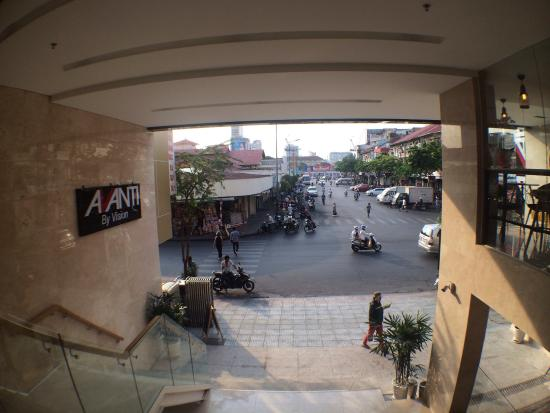 having my morning coffee in front of avanti hotel and people rh tripadvisor co nz