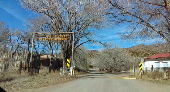 Entrance to Ojo Caliente
