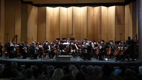 Guanajuato, Meksiko: Orchestra on stage at Teatro Juarez