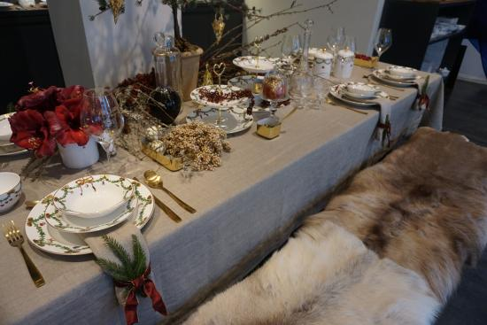 Christmas table setting at royal copenhagen picture of