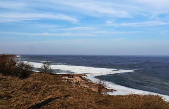 Lake Ilmen: Ильменский глинт ранней весной