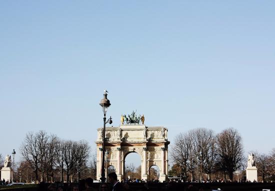 Arc du triomphe du Carrousel. Paris, France.