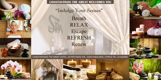 Constantinos the Great Beach Hotel: Spa area