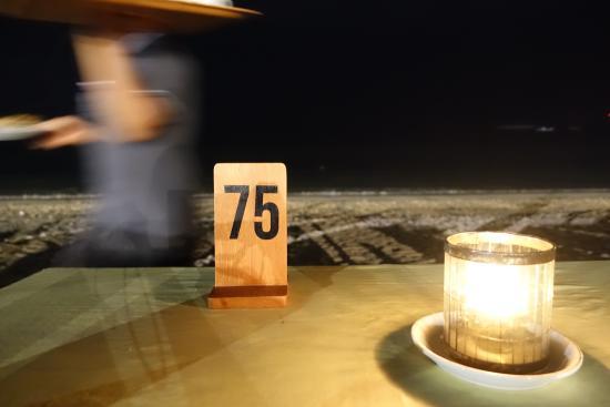 Jimbaran Bay Seafood Restaurant: dining on the beach