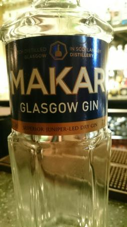 Makar Glasgow Gin - good to see a locally made Gin served in a Glasgow restaurant