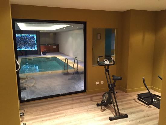 Salle de sport picture of best western soleil et jardin for Best western hotel soleil et jardin