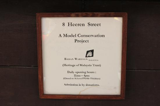 No 8 Heeren Street Heritage Centre: info on the project