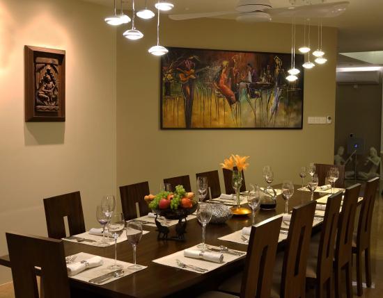 elegant dining table picture of the penthouse above sea dehiwala rh tripadvisor co za