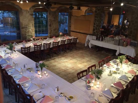 villaggio cucina private party dining room setup - Dining Room Set Up