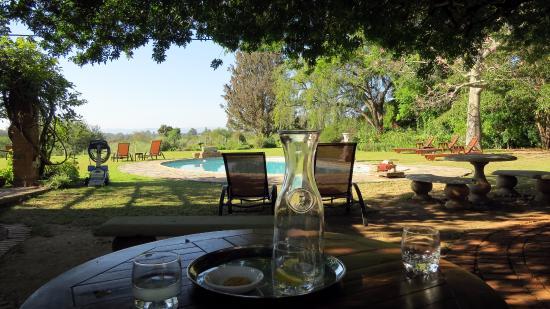 Addo, Sudáfrica: Relaxen am Pool unter Schatten spendenden Bäumen