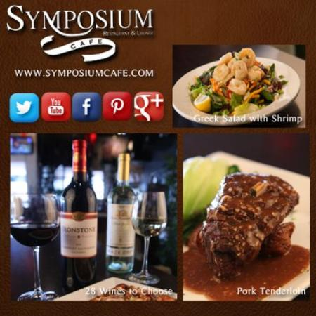 Symposium Cafe Restaurant & Lounge: Sunday specials-1/2 price Owners' cellar bottle of wine