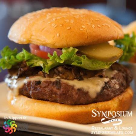 Symposium Cafe Restaurant & Lounge: Monday burgers specials