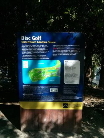 Queenstown, Nieuw-Zeeland: Inicio do percurso de Disc Golf