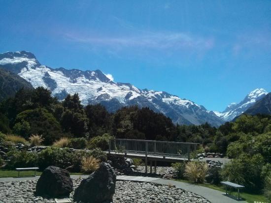 Queenstown, Nieuw-Zeeland: Monte Cook visto do Hermitage Hotel