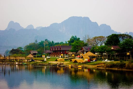 good atmosphere and views in vang vieng picture of vang vieng rh tripadvisor ie