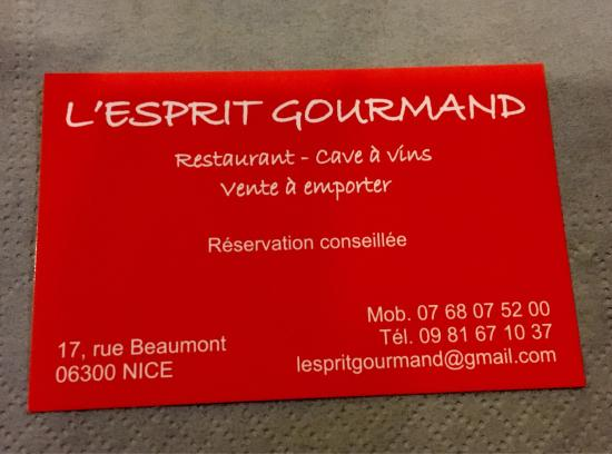 L'Esprit Gourmand: What a fantastic dinner!!! 