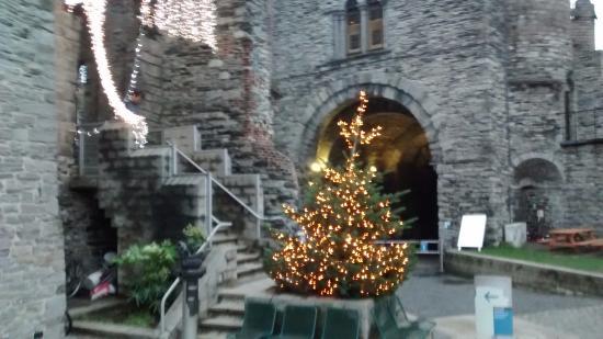 Patio principal con decoración de diciembre   picture of ...