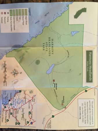 Harmony, Kaliforniya: State park map