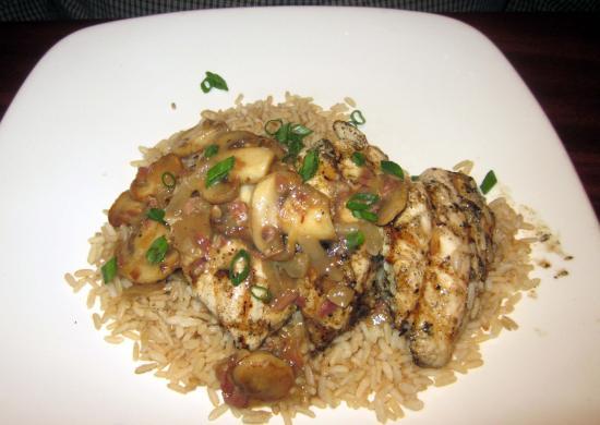 J B Dawson's Restaurant & Bar: Chicken Marsala with Brown Rice