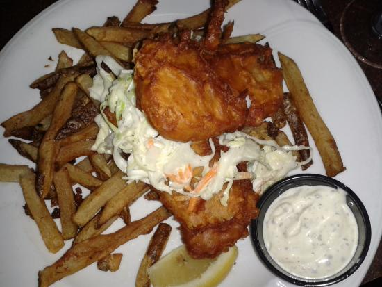 The James Joyce : Fish with hand cut fries and coleslaw and tartar sauce