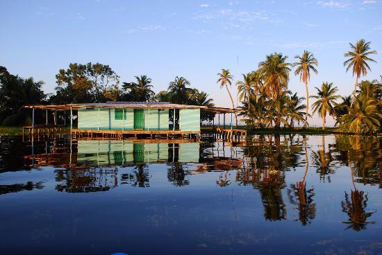 Nuestro campamento esta sobre la laguna de Ologa, Zulia, Venezuela