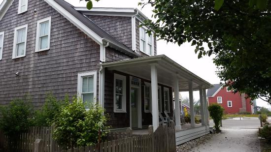 "Seabrook Cottage Rentals: View of Whatever Floats Your Boat, walking towards ""Town"" area, from the pool/community area."