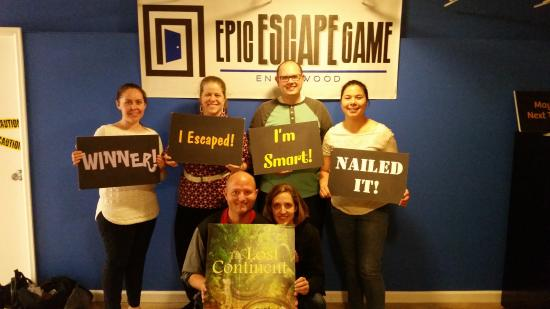 Englewood, CO: We escaped and got 2nd place