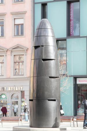 """Brno, República Checa: L'orologio """"Bomba"""""""