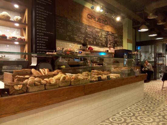 Crusto: интерьер кафе
