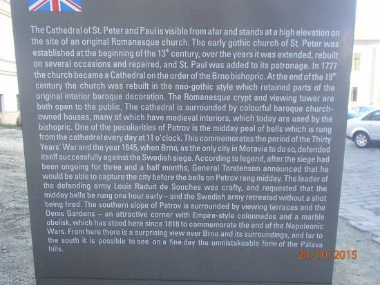 Brno, Tsjechië: History Board