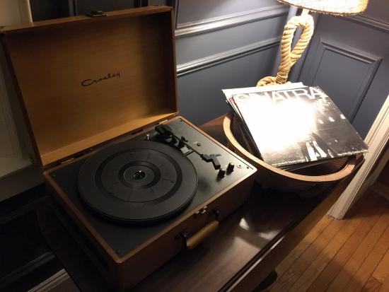 The Lindsey Hotel: Record player in the main sitting room