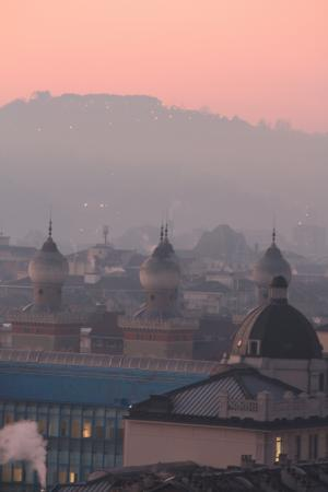 Hotel Principi di Piemonte: Another view of the city at dawn as seen from our suite